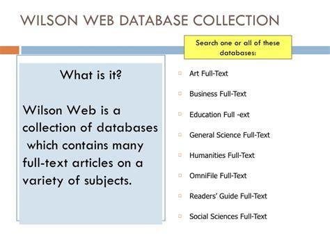 wilson web tutorial