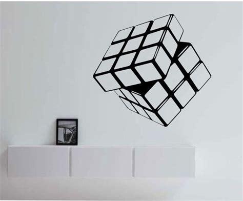 Rubik S Cube Vinyl Wall Decal Sticker Art Decor Bedroom Cube Wall Decor