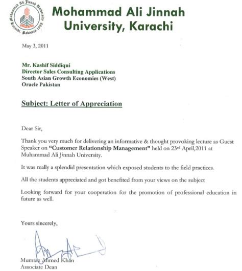 Letter For Guest Lecture 12 Genuine Sles Of Certificate Of Appreciation For Guest Speaker Demplates