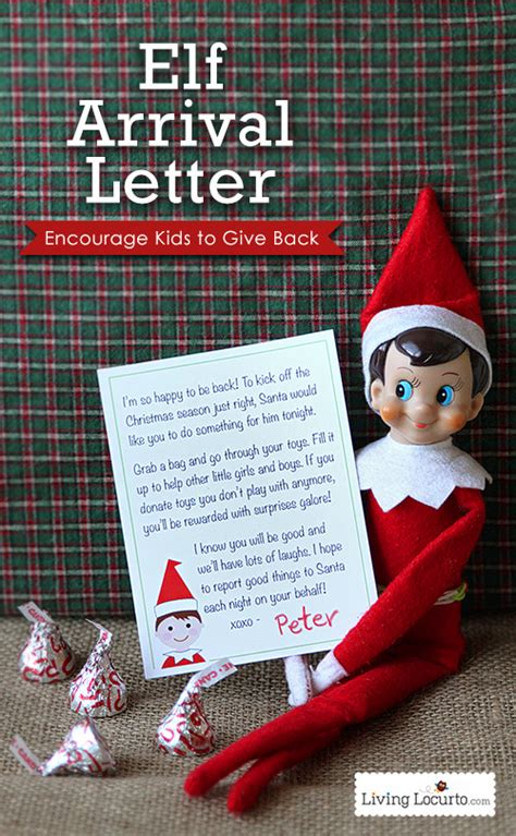 printable elf on the shelf arrival letter 5 adorable elf on the shelf arrival ideas living locurto