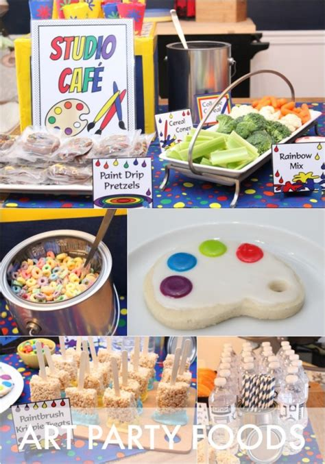 Snack End Table Art Party Food Ideas