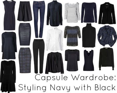 black and white capsule wardrobe ask allie styling navy with black my hair skirts and