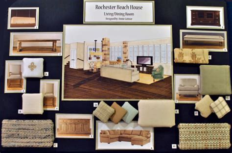 About The Work Of Interior Designers Colours Materials Storyboard Template For Interior Design