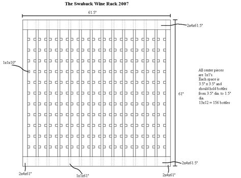 Wine Rack Opening Size by Wine Rack Plans Sosfund
