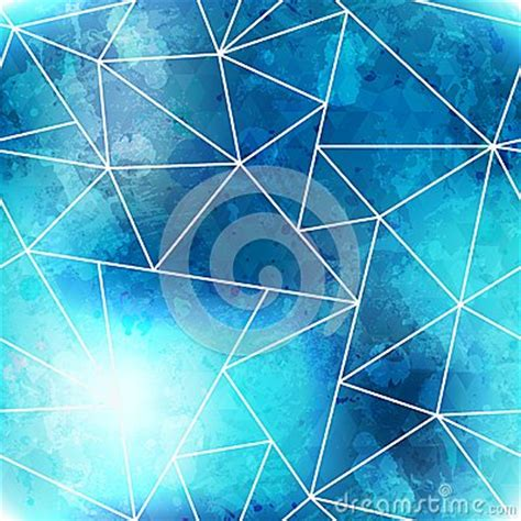 triangle pattern after effects blue triangle seamless pattern with grunge effect royalty