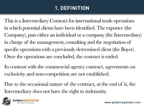 Intermediary Contract For International Trade Contract Template And Intermediary Agreement Template