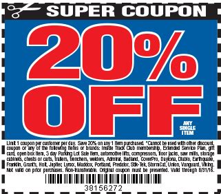 harbor freight coupons 20 off printable harbor freight coupon codes 20 off coupon code printable