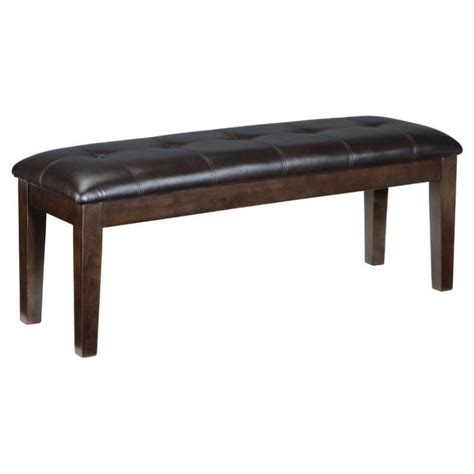large upholstered bench ashley haddigan large upholstered dining bench in dark