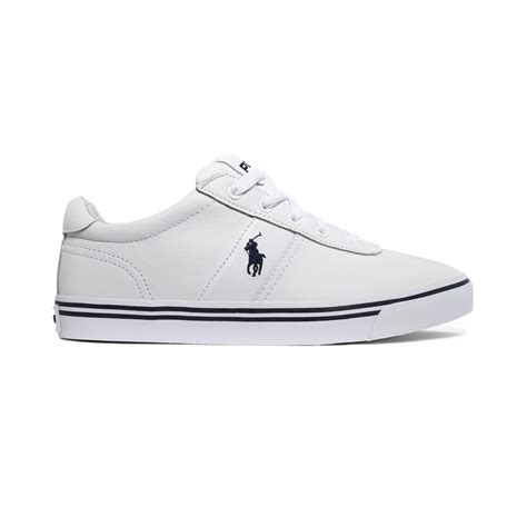 ralph white sneakers polo ralph hanford leather sneakers in white for
