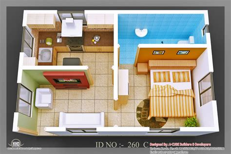 Small Home Design One Floor 3d Isometric Views Of Small House Plans Kerala Home
