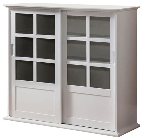 accent cabinets with sliding doors wood curio cabinet with glass sliding doors white finish