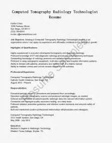 Technologist Resume Template by Great Sle Resume Resume Sles Ct Scan Technologist Resume Sle