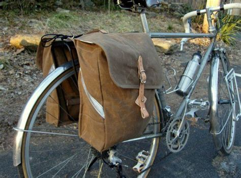Tas Pannier Side Bag By Urbandshop city waxed canvas roll up bicycle saddle bags panniers