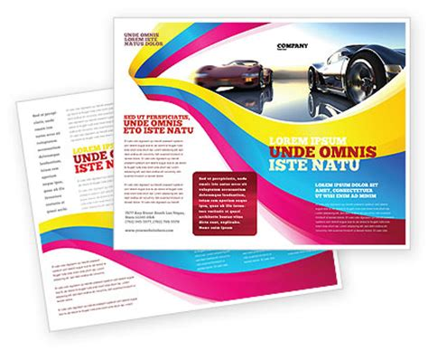 concept cars brochure template design and layout download