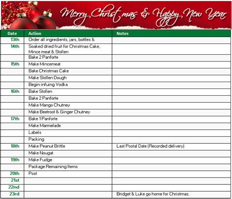 christmas shopping gift and to do list templates in ms