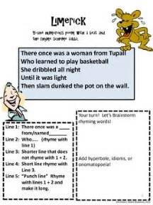 limerick writing template limerick poetry sles and template