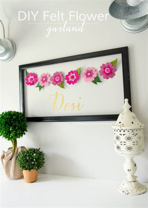 Urban Bedroom Ideas craftaholics anonymous 174 diy felt flower garland cut n