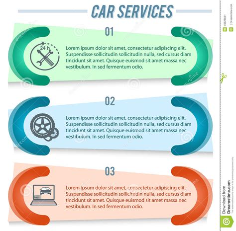 Car Service Post Card Template by Flyer Repair Vector Cartoondealer 61403283