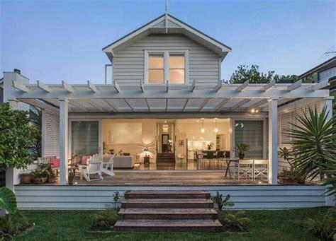 modern farmhouse  deck house exterior