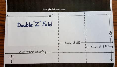 z fold card template z fold card pattern http www nancyferbshares