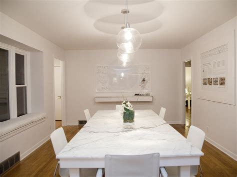 white marble dining room table photo page hgtv