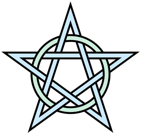 file pentagram circle interlaced svg wikimedia commons