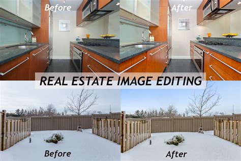 value added services real estate image editing and