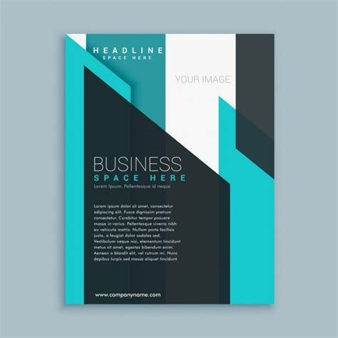 business brochure template presentation vector free download