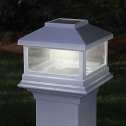 deck post solar lights deckorators solar post cap light