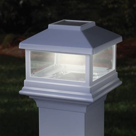 solar post cap light deckorators solar post cap light