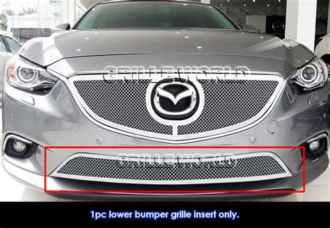 mazda 6 sport grill for 2014 2016 mazda 6 stainless lower bumper mesh grille