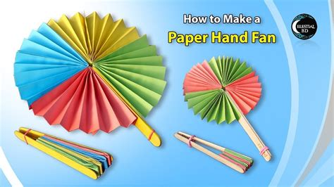 Popsicle Stick Paper Fan Craft How To A Paper
