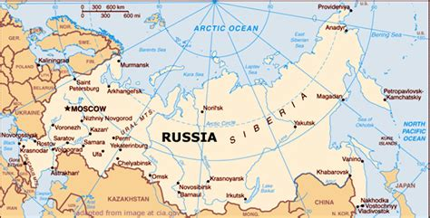 map of siberia russia with cities johnson s russia list