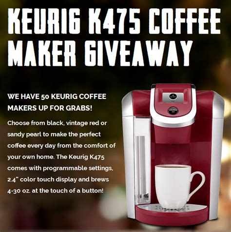 Gm Financial Sweepstakes - keurig coffee maker giveaway enter online sweeps