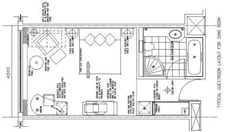hotel guest room floor plans hotel design guestroom sle plan 11