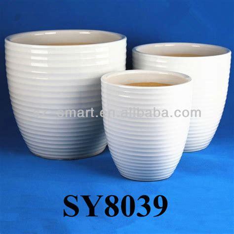 Large Ceramic Planter Pots by White Glazed Ceramic Pots Large Planter Buy Glazed