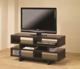 furniture tv stands coaster leo console in two finishes aim rental