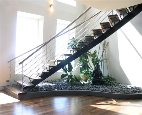 Underneath Stairs Design How To Make A Small Pebble Garden The Stairs