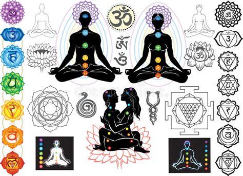 chakras  esoteric symbols stock vector illustration