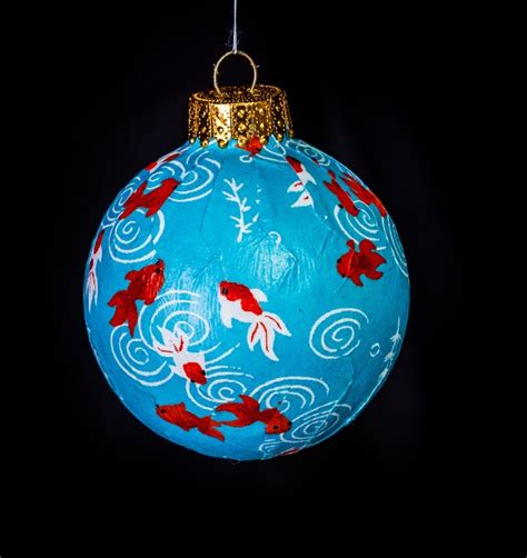 koi japanese washi paper ornament eb ornaments