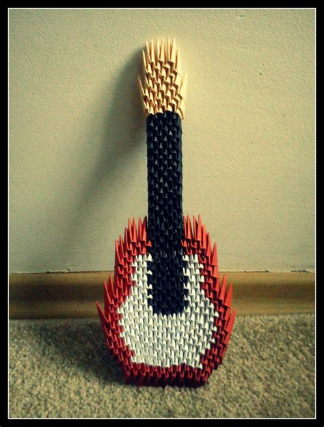 Make A Paper Guitar - origami guitar by schnauzerka on deviantart