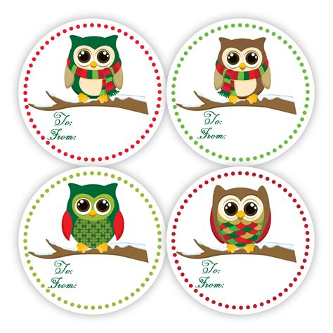 christmas gift tag stickers fun red and green polka dots