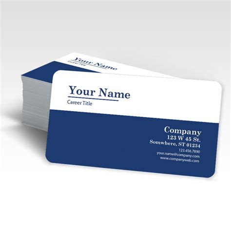 rounded corner business card template buy rounded corner business cards in fl radius 1 4 quot or 1 8 quot