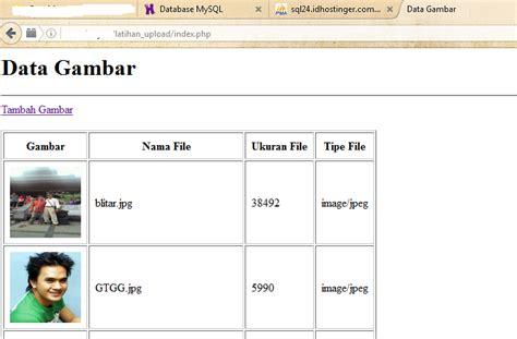 cara membuat upload file dengan php jlwsaran cara membuat upload gambar dengan php dan mysql