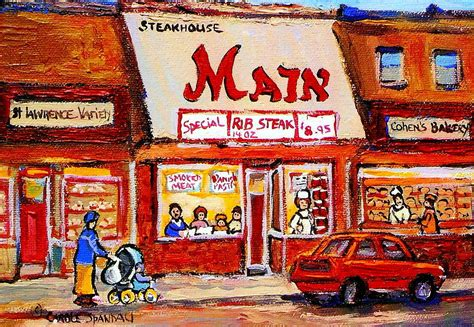 Home Decor Montreal Jewish Montreal Vintage City Scenes The Main Rib Steaks On