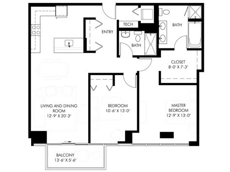 1200 Square Feet | 1200 sq ft house plans 2 bedrooms 2 baths 1200 square