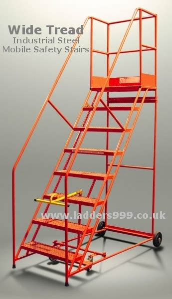 wide tread mobile safety steps  ladders lansford