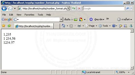 html format numeric php number format