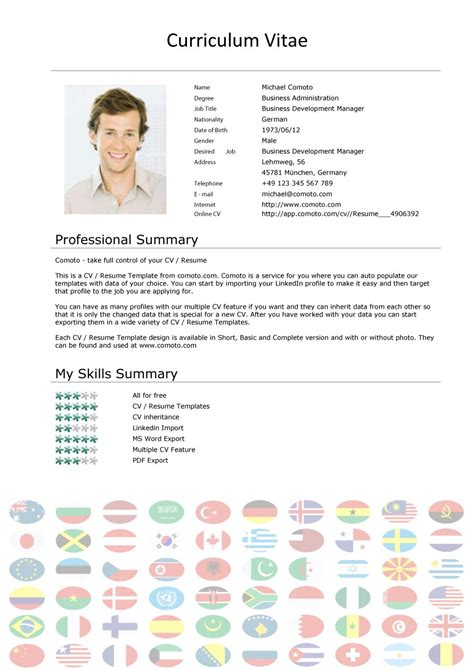 4 free downloadable cv templates for south african job seekers