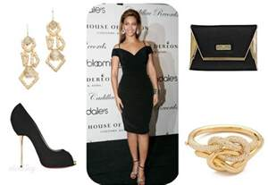 Elegant and formal look like beyonce s choose for a plain black dress